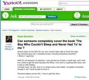 Yahoo!Question