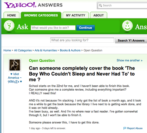 Yahoo!Question