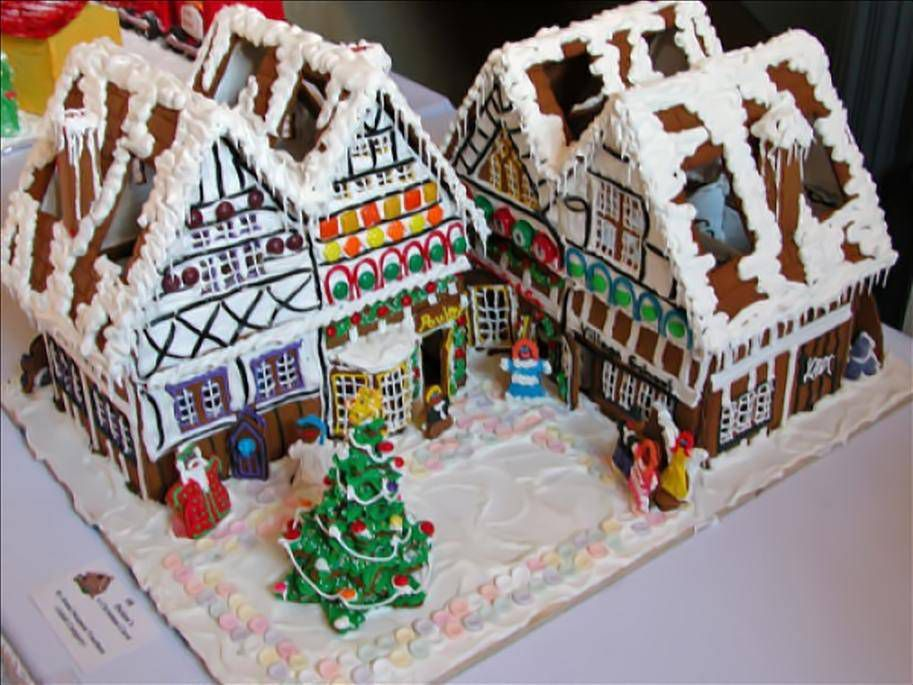 christmas carol gingerbread house