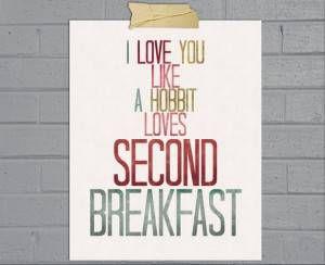 hobbit second breakfast print