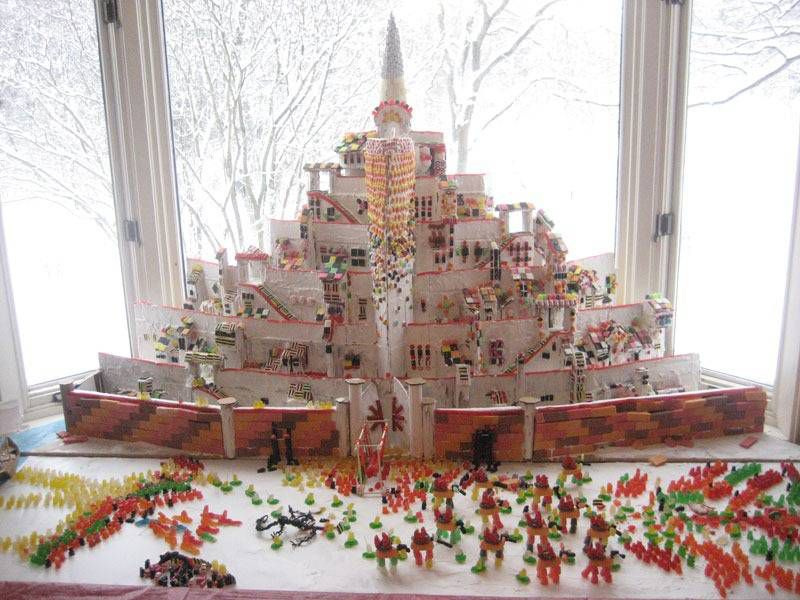 minas tirith gingerbread house