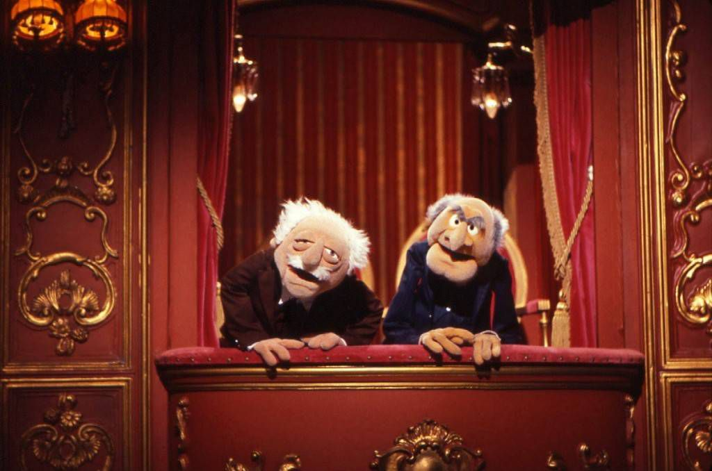 Statler and Waldorf muppets