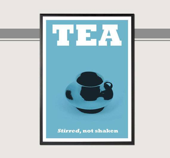 james bond tea poster