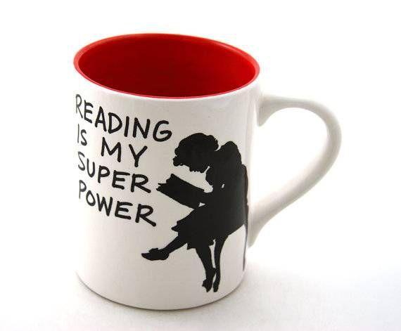 reading is my super power mug