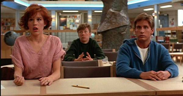 the breakfast club library shot