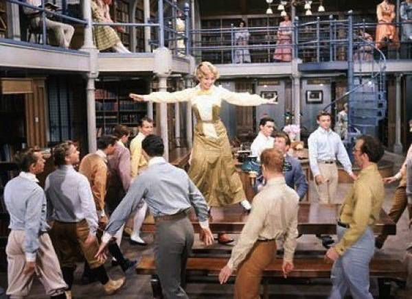 the music man library scene