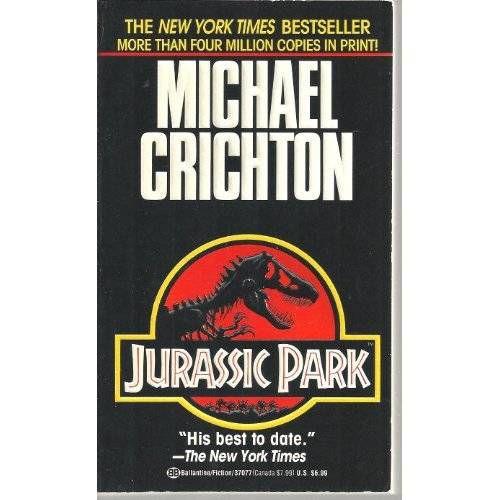 jurassic park crichton cover