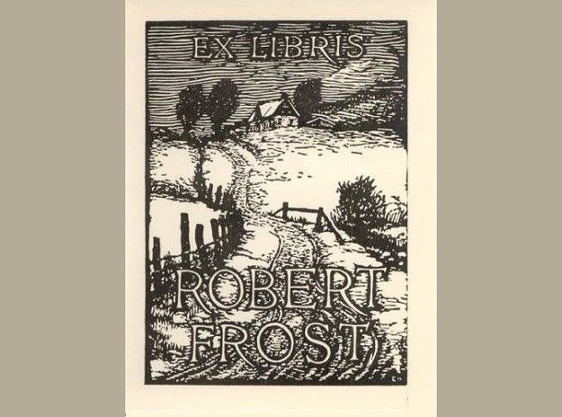 robert frost bookplate