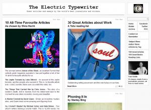 the electric typewriter