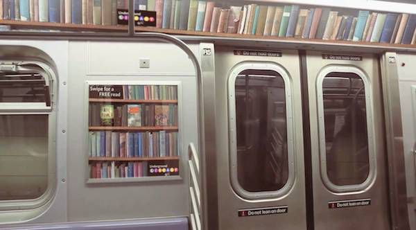 wide shot subway library