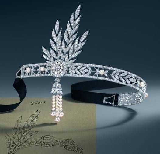 The Savoy Headpiece, image via Tiffany & Co.