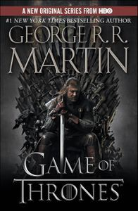Game of Thrones tie in cover by George RR Martin