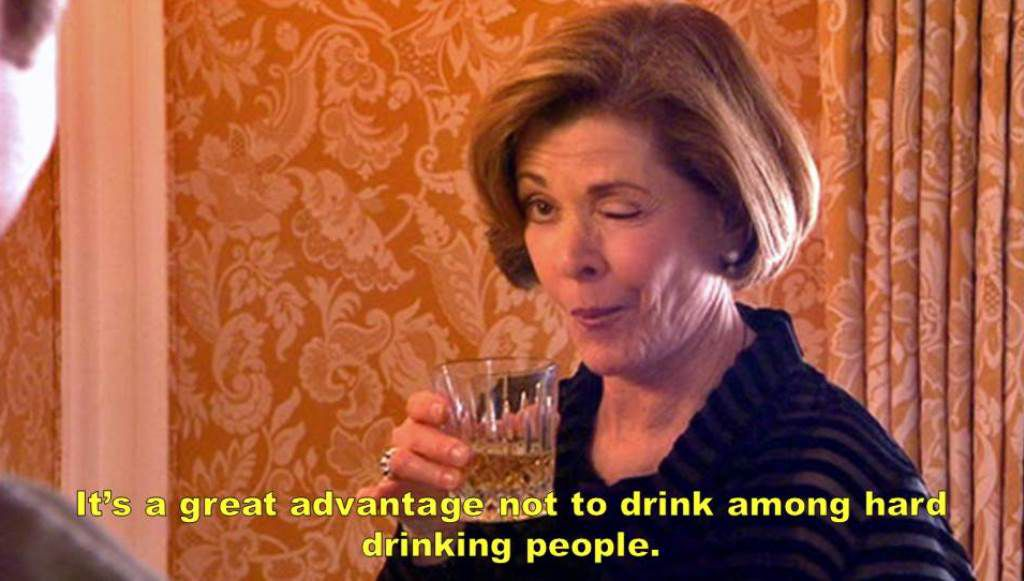 Great Gatsby Arrested Development Mash Up Lucille Drinking