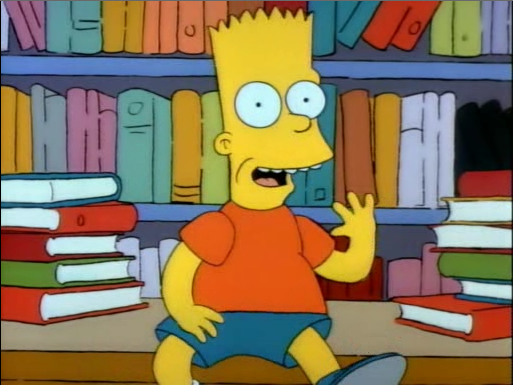 bart at the library