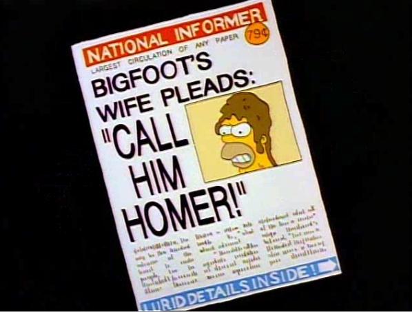 homer as bigfoot