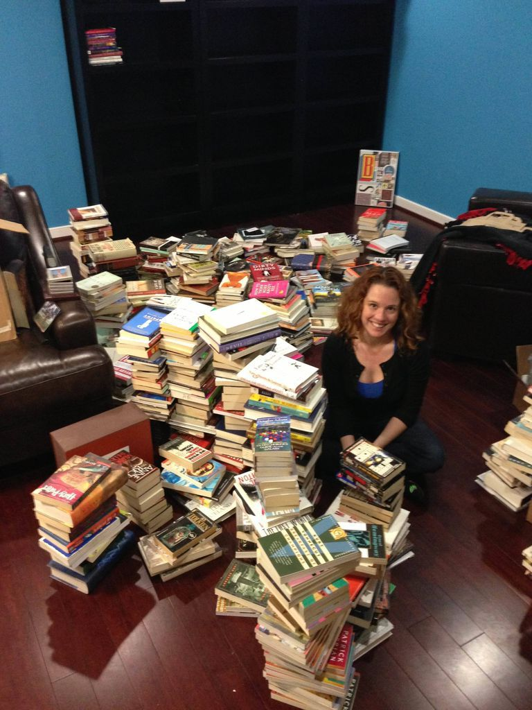 You try sorting hundreds of books and not getting frizzy hair.