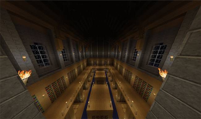 hogwarts library minecraft