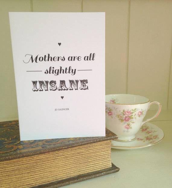 jd salinger mother's day card
