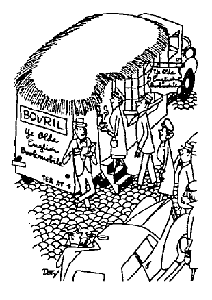 As imagined by a cartoonist. From the New York Times (3 September, 1950).