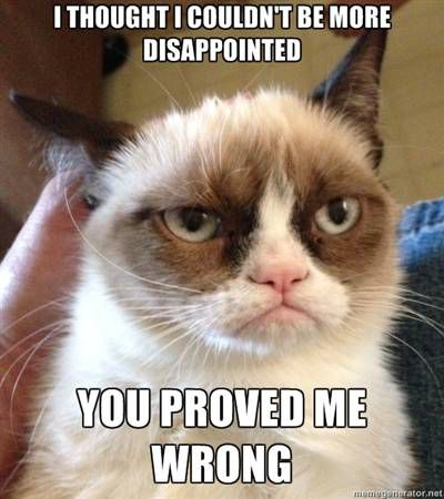 Grumpy Cat Disappointment