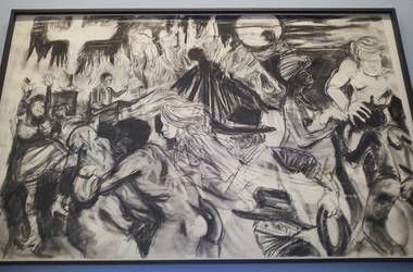 """Kara Walker, """"The moral arc of history ideally bends towards justice but just as soon as not curves back around toward barbarism, sadism, and unrestrained chaos."""" Photo from NJ.com."""