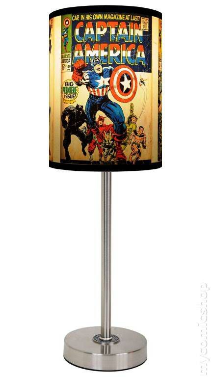 Lamp in a Box Captain America