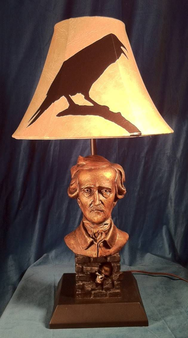 Edgar Allan Poe lamp, by Christopher Darga. More information at CustomMade.com.