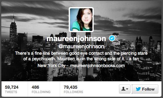 maureen johnson twitter