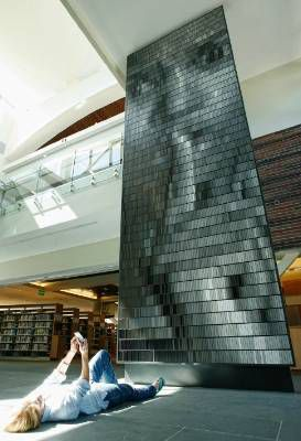 Sculpture by Christian Moeller, at a library in Walnut Creek, California.