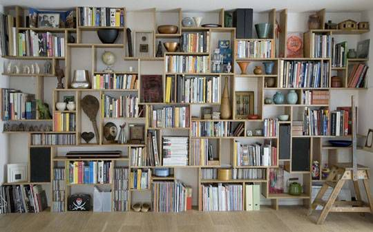 Shelving by Studiomama. Photo from Apartment Therapy.