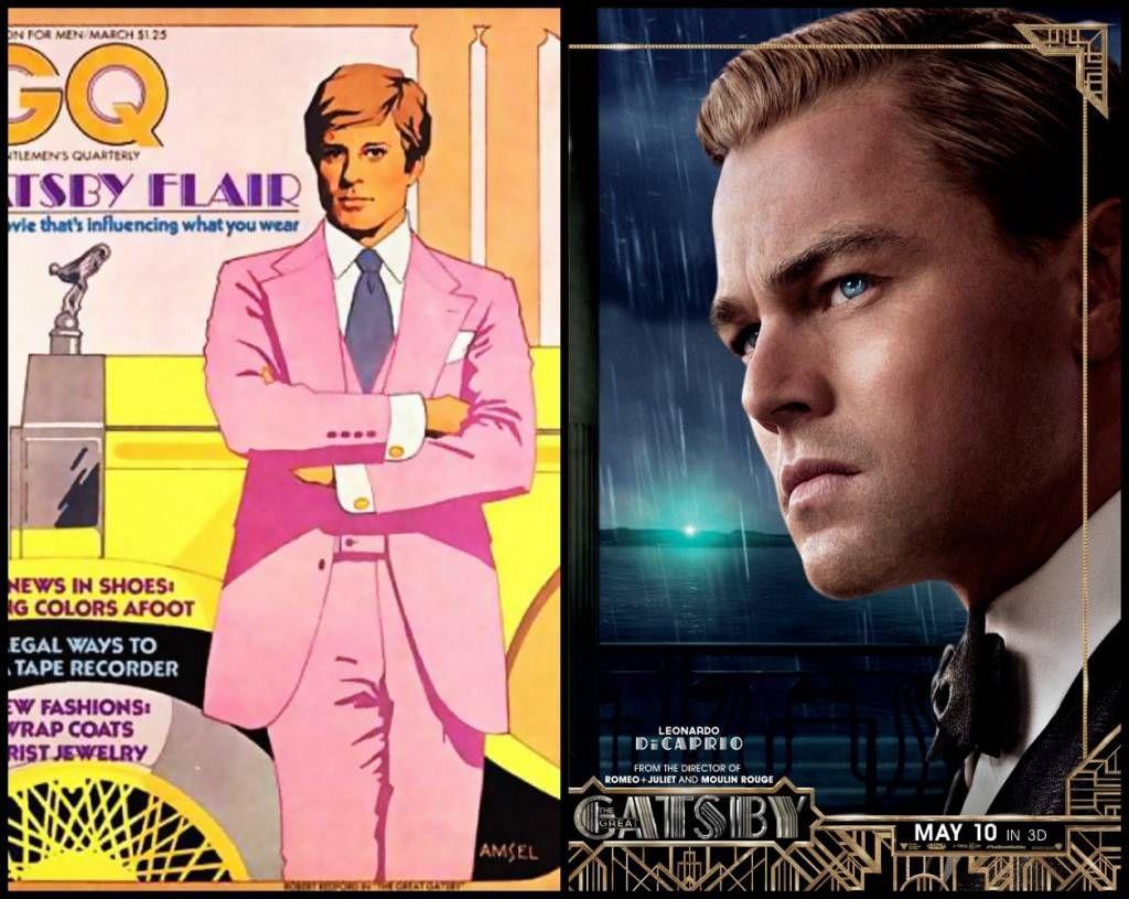 Robert Redford and Leonardo DiCaprio as Jay Gatsby