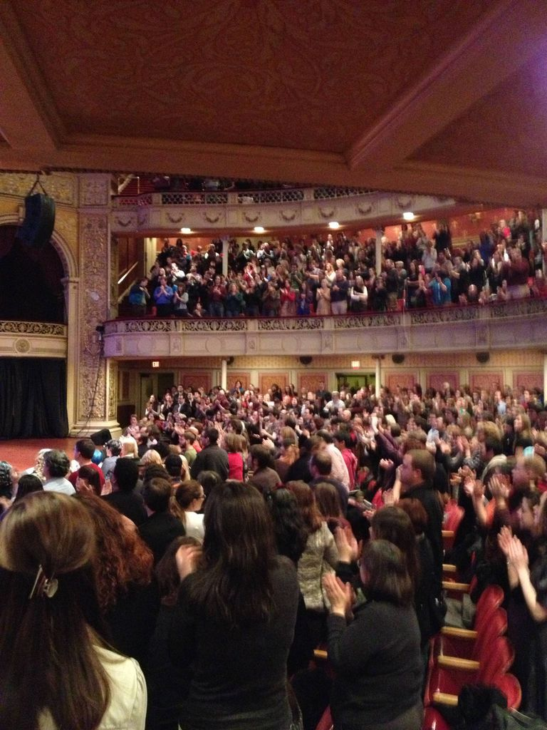 The audience at Neil Gaiman and An Evening of Stardust in Pittsburg, PA.  (November 2012)
