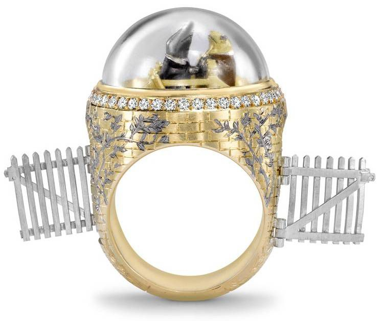 Theo Fennell Toad & Mole Ring