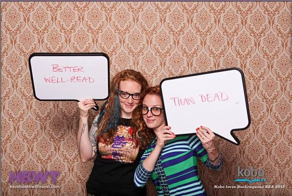 The Well-Readheads at the Bookrageous BEA Bash. Thanks  Have Booth Will Travel!