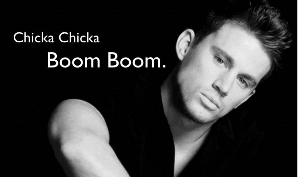 Channing Tatum reading from CHICKA CHICKA BOOM BOOM
