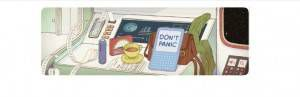 Douglas Adams 61st Birthday Google Doodle