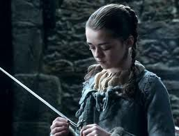 Arya (Maisie Willliams) and her sword (Needle)