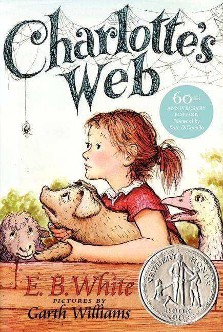 Charlotte's web b E.B. White book cover - classics for middle graders