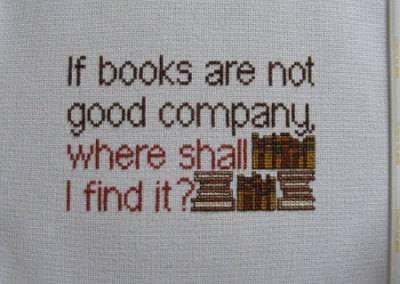 bookish cross stitch