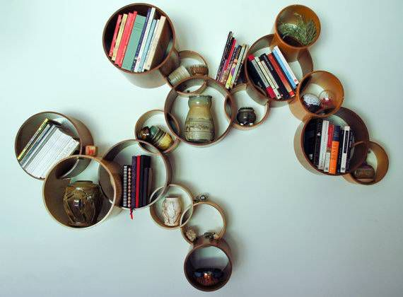 modular circle bookshelf
