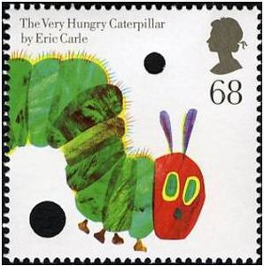 very hungry caterpillar stamp