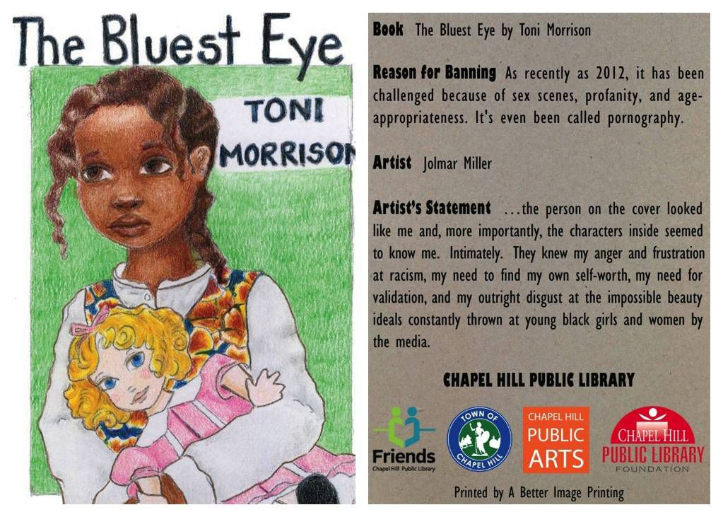 Bluest Eye Banned Book Trading Card