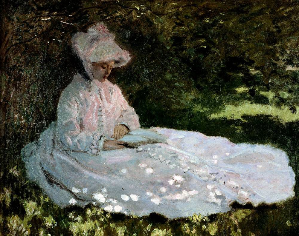 """A Woman Reading,"" Claude Monet, 1872"