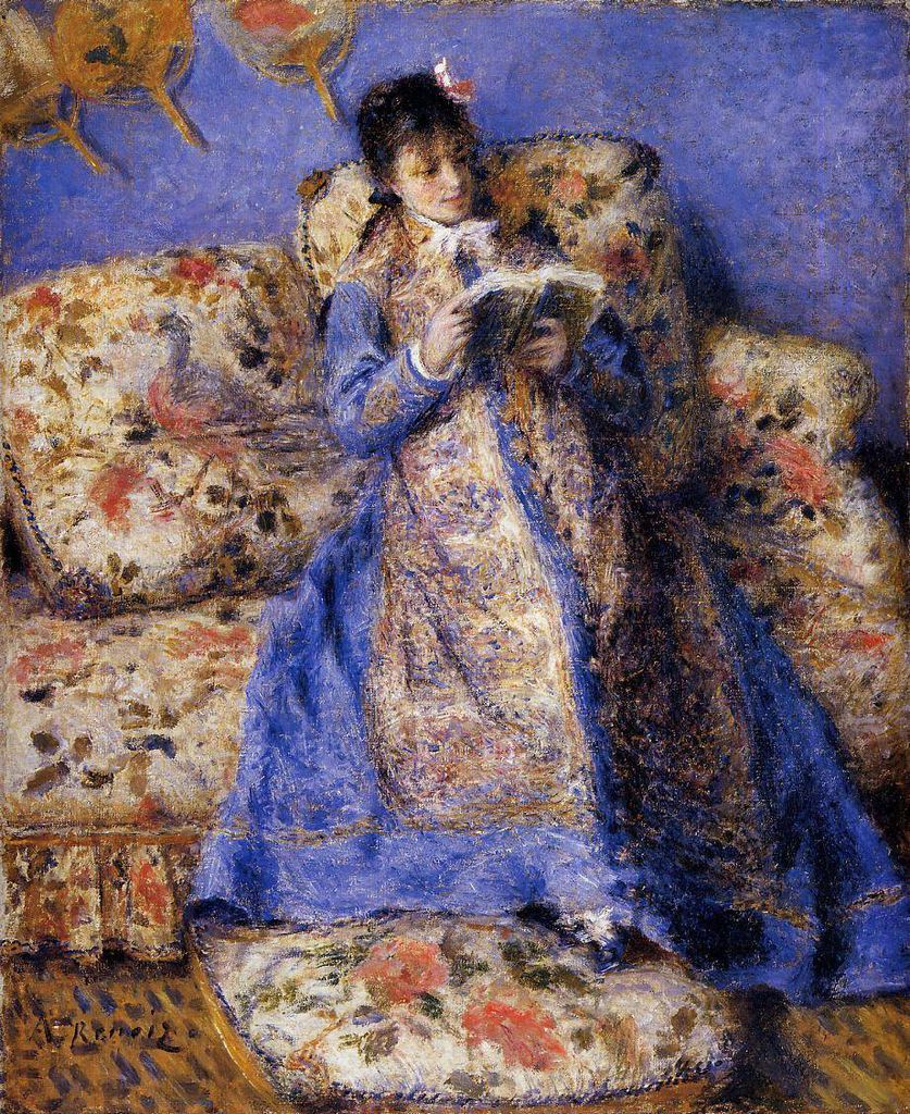 """Camille Monet Reading,"" Pierre-Auguste Renoir, 1872"