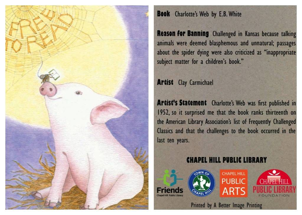 charlotte's web banned book card