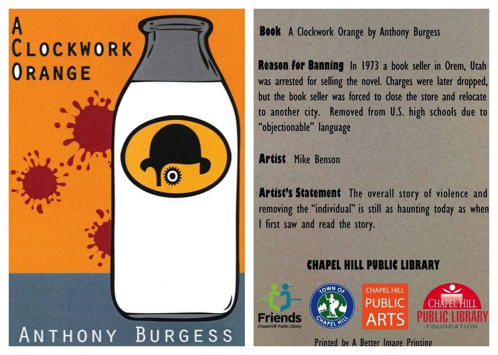 clockwork orange banned books card