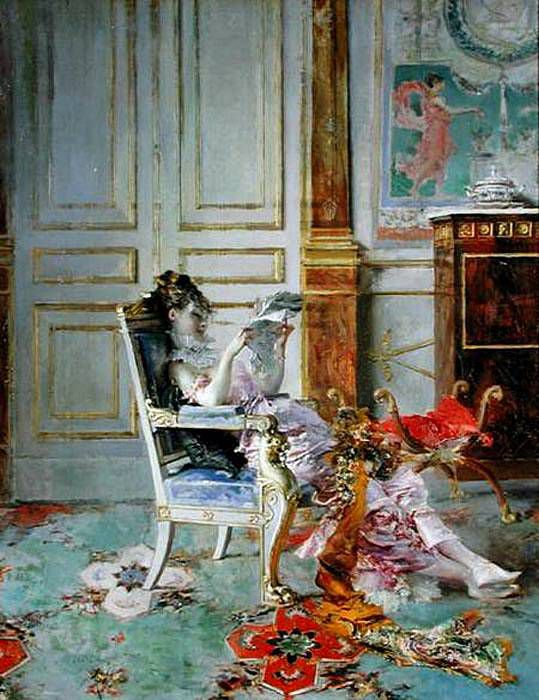 """Girl Reading in a Salon,"" Giovanni Boldini, 1876"