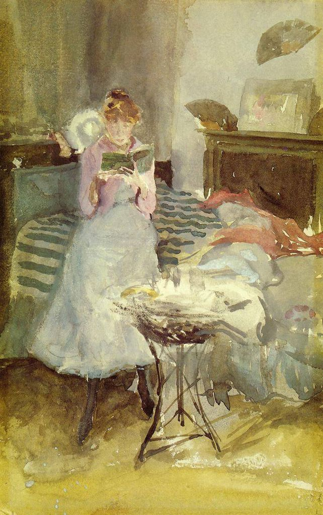 """Pink Note: The Novelette"" James McNeill Whistler, 1884"