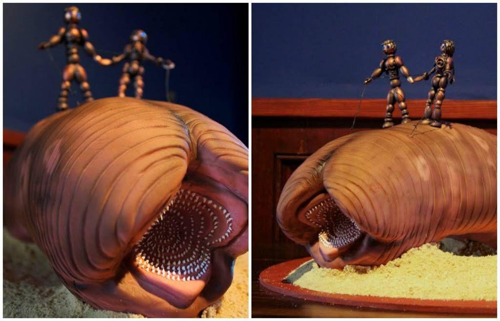Dune sandworm wedding cake by Jana*s Fun Cakes