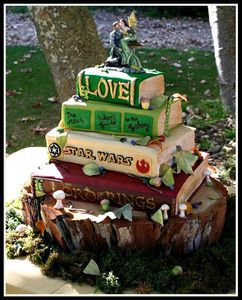 Books wedding cake by Jana*s Fun Cakes.